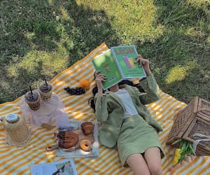picnic, green, and aesthetic image