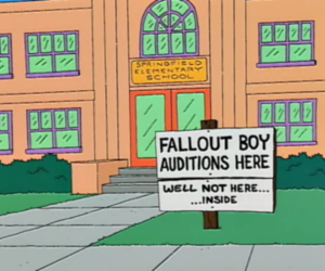 the simpsons and fall out boy image