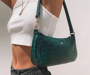 fashion, green, and bag image