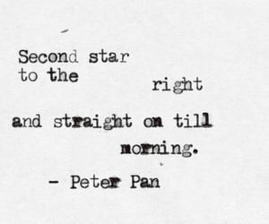 peter pan, quotes, and stars image