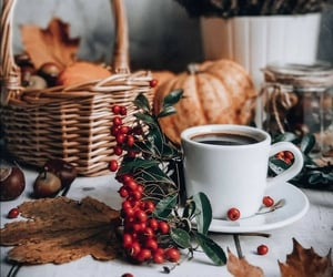 autumn, cup of coffee, and coffee time image