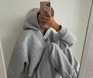grey, hoodie, and iphone image