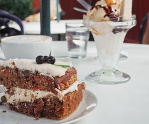 caffe latte, summer, and carrot cake image