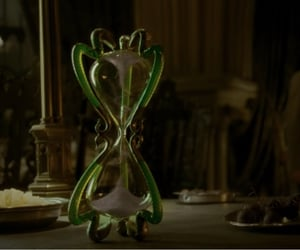 harry potter, hourglass, and slughorn image