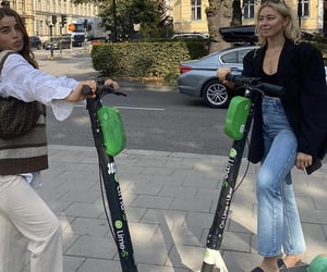 everyday life, electric scooter, and fashionista fashionable image