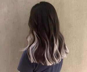 hair, highlight, and hairstyle image