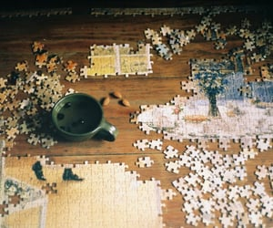 puzzle and vintage image