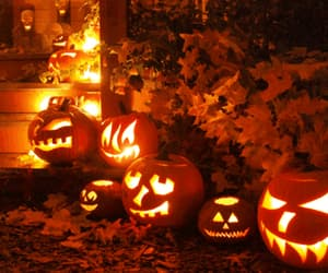 all hallows eve, autumn, and fall image