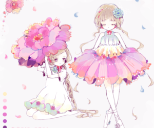anime, art, and flowers image
