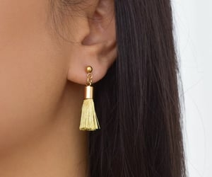 earrings, gold earrings, and dainty earrings image