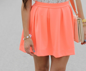 fashion, skirt, and orange image