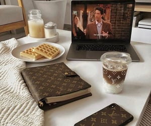 agenda, friends, and coffee image