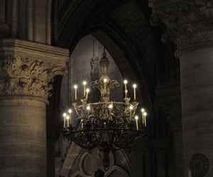 chandelier, dark, and grunge image