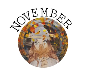 aesthetic, inspiration, and november image