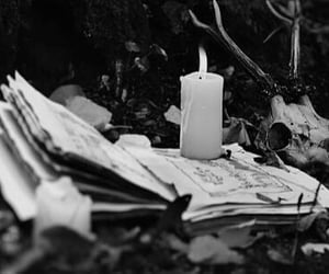 bianco e nero, candles, and gothic image