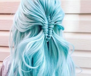 beautiful, blue hair, and fashion image