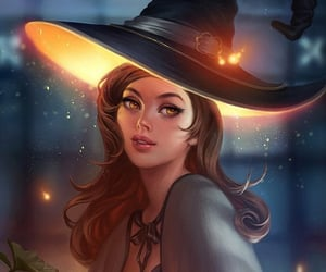 art, witch, and Halloween image