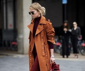coat, fall, and pants image