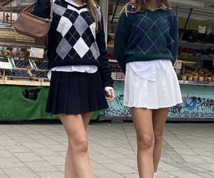 90s, argyle, and chic image