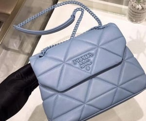 bag, blue, and Prada image