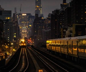 manhattan, new york city, and railroad image