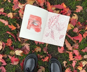 art, autumn, and journal image