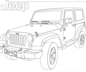 cool, drawing, and jeep image