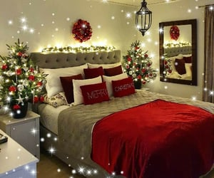 beautiful, bed, and christmas image