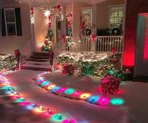 home, merry christmas, and snow image