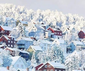 winter, city, and home image