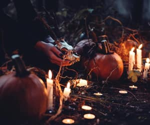 candle, Halloween, and pumpkin image