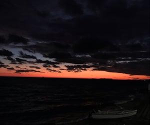 sky, sunset, and seaset image