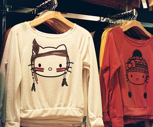 hello kitty, sweater, and clothes image