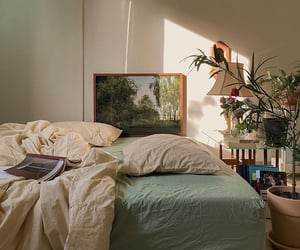 bedroom, interior, and plants image