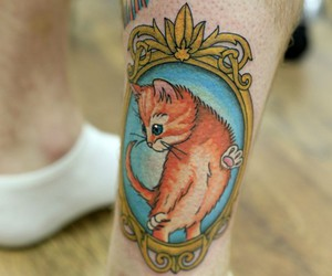 cat, cats, and tattoo image