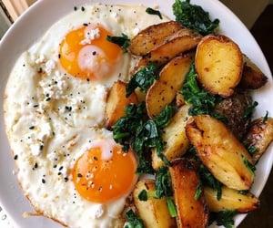 food, potato, and eggs image