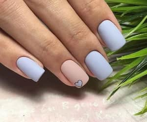 beige, Bleu, and nail polish image