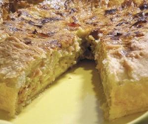 food, leek, and torta salata image
