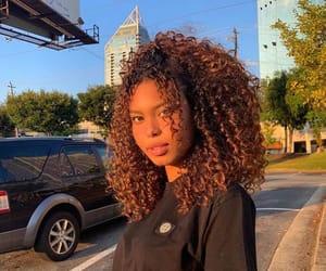 bangs, hair, and half up half down image