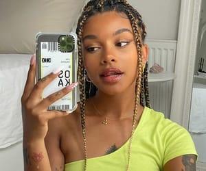 black, braids, and girl image