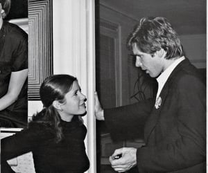 carrie fisher, harrison ford, and cute image