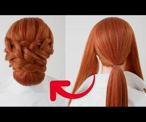 braid, hairstyles, and longhair image