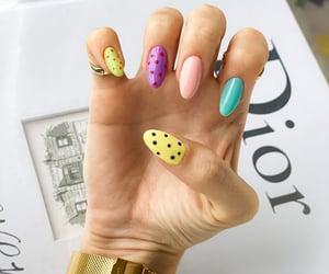 colors, fun, and nails image