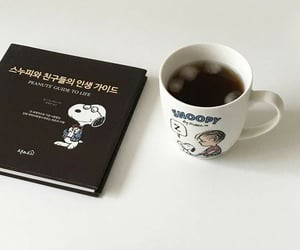 coffee, korean, and snoopy image