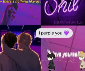 fanart, purple, and bts image