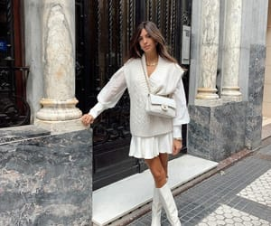 blogger, outfit, and white dress image