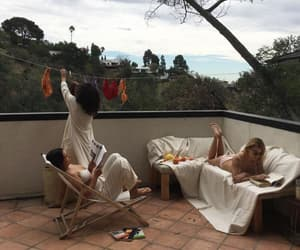 balcony, clothes, and friends image