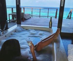 luxury, summer, and bath image