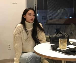 asian fashion, fashion girl, and knitwear image