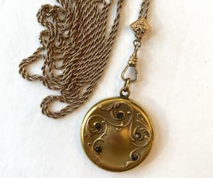 etsy, antique jewelry, and picture locket image